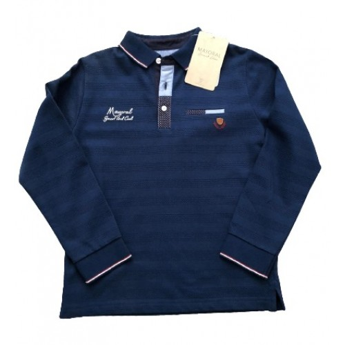 NAVY BOYS LONG SLEEVED TOP