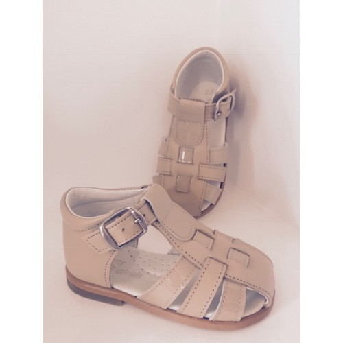 Boys Patent Beige Sandals