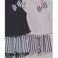 Pom Pom Pink Shorts Set