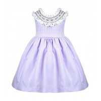 Lilac Hand Smocked Traditional Dress