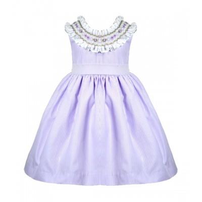 PRETTY ORIGINALS LILAC SMOCK DRESS