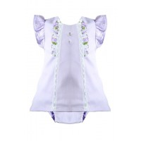 Baby Girls Lilac Dress And Knicker Set