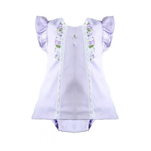 Baby Girls Lilac Dress And Knicker Set
