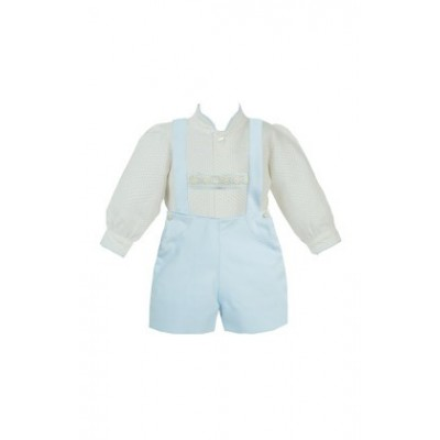 PRETTY ORIGINALS BOYS SHIRT & H BAR DUNGAREE SET