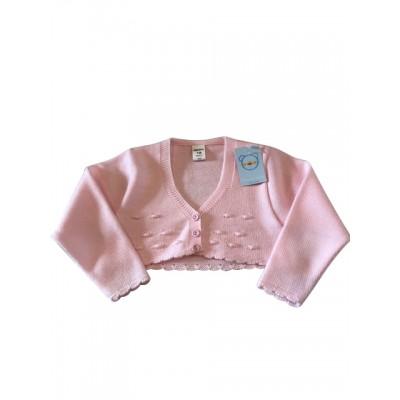 PinkKnitted Bolero Cardigan