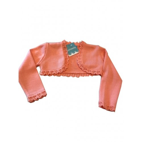 Peach Bolero Knitted Cardigan