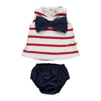 Nautical Strip Knicker & Vest Set