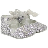 PRETTY ORIGINALS Silver Glitter Shoes