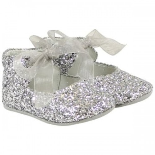 Silver Glitter Pre Walker Shoes