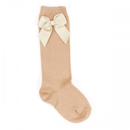 Long Bow Sock - Camel