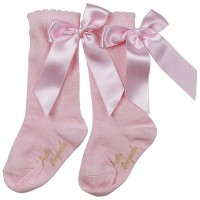 Pretty Originals Pink Bow long Socks