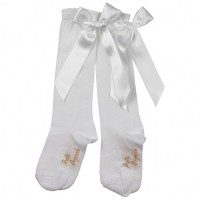 PRETTY ORIGINALS WHITE BOW SOCKS