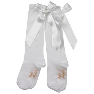 White Long Bow Socks
