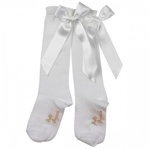 White Long Bow Socks