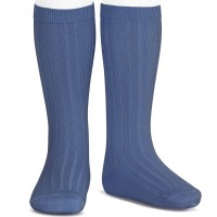 Condor Boys Ribbed Petrol Blue Socks
