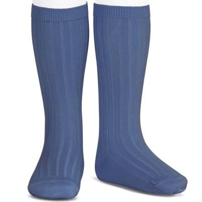 CONDOR BOYS RIBBED PETROL BLUE SOCKS