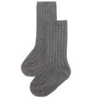 Condor Boys Ribbed Grey Long Socks