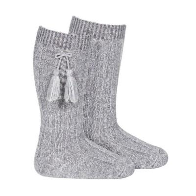 Long Tassel Socks Grey