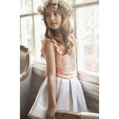 Tartaleta Peach Top and  Skirt Set