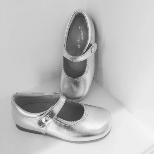 Mary Jane Shoes - Silver