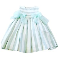 Stripped Dress - Mint Green/Cream