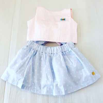 Girls Bow Skirt & Top Set