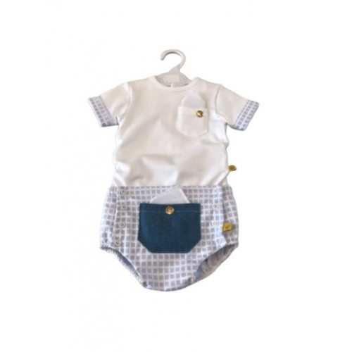 Boys Check Jam Pant Set
