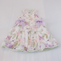 Girls Summer Floral Bow Dress