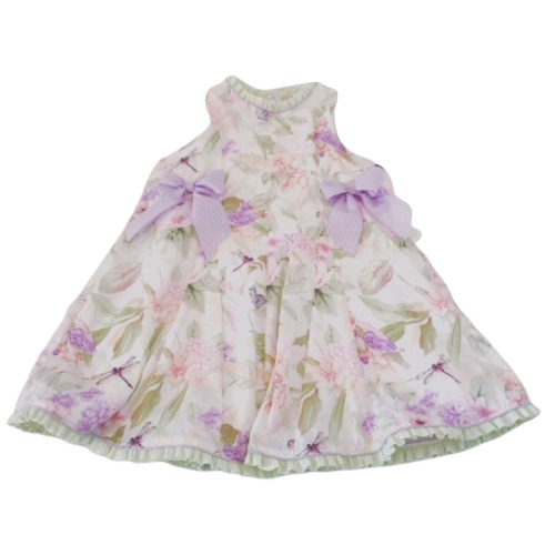 Girls Summer Floral Bow Dress