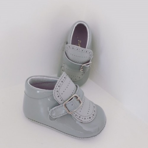 Grey Patent Pre Walker Boots