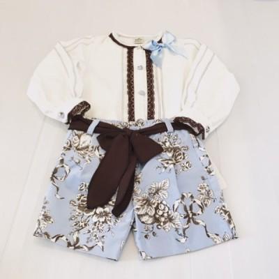 Baby Blue Shorts & Blouse Set