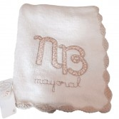 Large Bow Blanket Cream