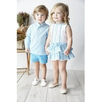 Girls Blue Gingham Dress