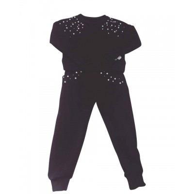 GIRLS NAVY PEARL TRACKSUIT