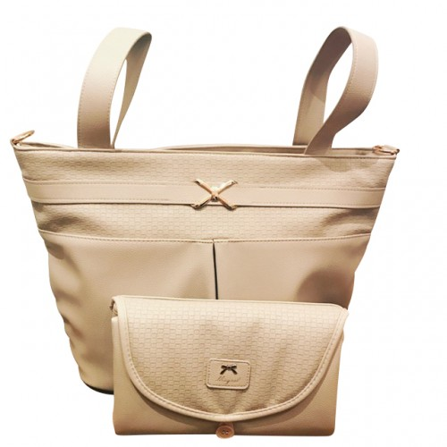 Changing Bag With Matching Changing Mat - Beige