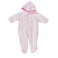 Baby Girls Pink Hooded Pram suite