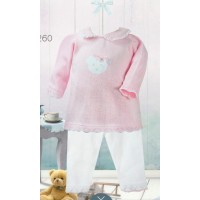 Girls Knit Top & Trouser Set