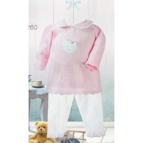 Girls Knit Top & Trouser Set