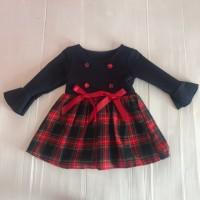 ANNIE-TARTAN NAVY/RED DRESS