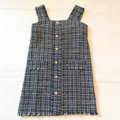 CHANNEL STYLE DRESS NAVY