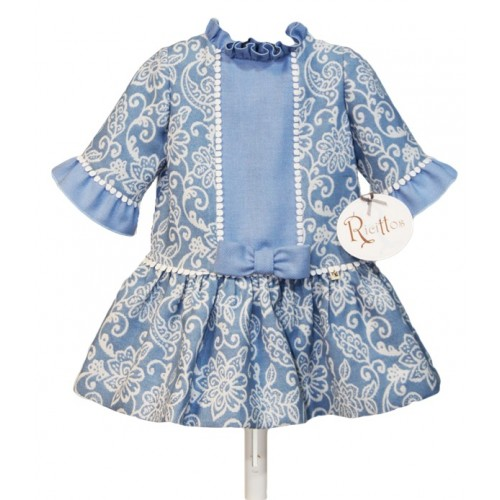Girls Pale Blue Spanish Dress