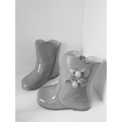 Patent Bow Boots