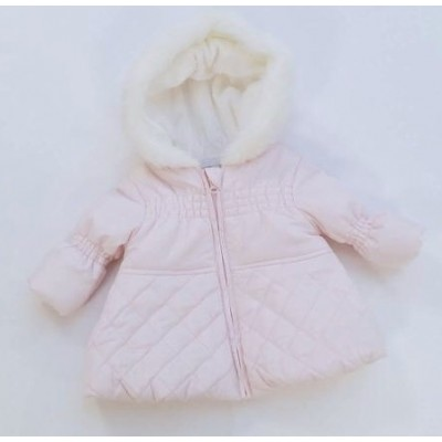 Baby Girls Pink Fur Hood Coat