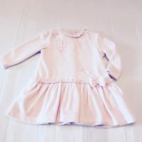 Pink Velvet Bow Dress