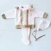 Pink Bow Knitted Set