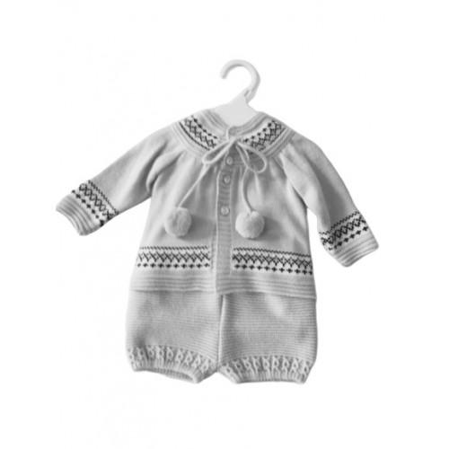 Baby Boys Knitted Jam Pant Shorts set