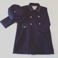Boys Navy Coat With Matching Flat Cap