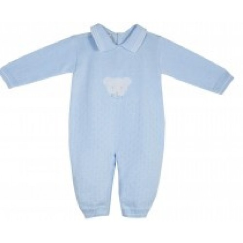 Boys Knitted Teddy Romper