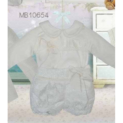 Baby Girls Blouse & Shorts Set