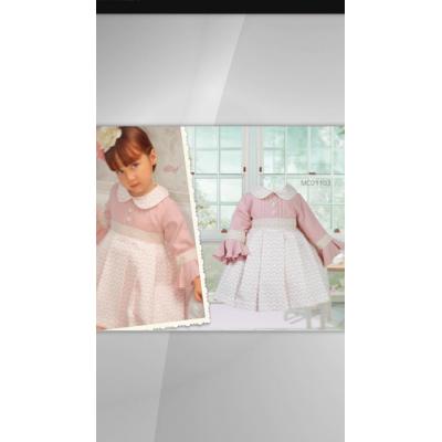 GIRLS ROSE PATTERN DRESS